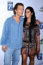 Camila alves matthew mcconaughey and at the los angeles premiere of surfer dude malibu cinemas malibu ca Royalty Free Stock Photo
