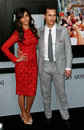Camila alves matthew mcconaughey new york dec actor r and attend the wolf of wall street premiere at the ziegfeld theatre on Stock Photo