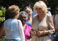 Camilla duchess of cornwall hampshire england th july greets the public during a visit to hampshire england th july Stock Photos