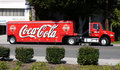 Camion de distribution de coca-cola Images libres de droits