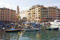 Camogli harbor Stock Photo