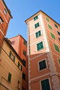 Camogli's houses Royalty Free Stock Photography