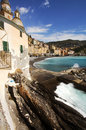 Camogli village vertical view Royalty Free Stock Photo