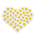 Camomile forming shape of a heart Stock Photography
