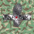 Camouflage army boot Royalty Free Stock Photo