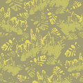 Camouflage floral seamless pattern Royalty Free Stock Photo
