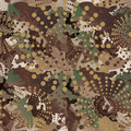 Camouflage and halftone pattern background seamless, mask clothi