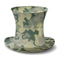 Camouflage hat Stock Photo