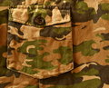 Camouflage pant army uniform side pocket also visible Royalty Free Stock Photography