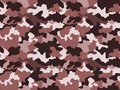 Camouflage pattern background in brown colors, seamless. Military fashion abstract geometric texture