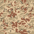 Camouflage pattern background seamless vector illustration. Classic clothing style masking camo repeat print. Beige, brown, ocher