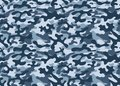 Camouflage pattern background seamless vector illustration. Classic clothing style masking repeat print. Blue white forest textur