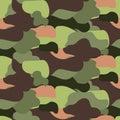 Camouflage pattern seamless vector illustration. Khaki colors texture.