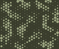 Camouflage pattern. Snake skin style, halftone seamless pattern. Green camo background