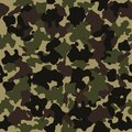 Camouflage seamless pattern. Fashion design for masking, military style. Green, brown, black, olive colors background. Vector.