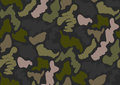 Camouflage seamless pattern in a shades of green, brown, beige colors.