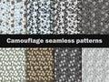 Camouflage seamless patterns. Urban pattern camouflage. Masking, vector