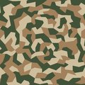 Camouflage texture. Geometric camo, seamless pattern. Abstract military or hunting camouflage background. Royalty Free Stock Photo