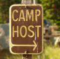 Camp host sign Royalty Free Stock Photo