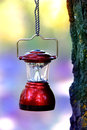 Camp lantern on rope Royalty Free Stock Photo