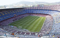 Camp nou barcelona spain – august a sold out barcelona football stadium during the match between fc barcelona and fc levante on Royalty Free Stock Photo