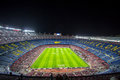 Camp Nou stadium before Champions League Royalty Free Stock Photo