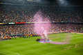 Camp nou stadium after the match against osasuna barcelona may on may in barcelona spain barcelona celebrates spanish league title Stock Image