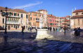 Camp san maurizio a bustling plaza on marco island in venice italy photo taken o a february Stock Images