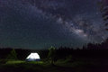 Camp Under the Stars Royalty Free Stock Photo