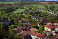 Campaign in the south of france fields forest village Royalty Free Stock Image