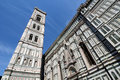 The Campanile, bell tower of Florence, Tuscany Stock Images