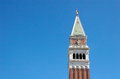 Campanile bell tower in venezia piazza san marco italy Royalty Free Stock Photography