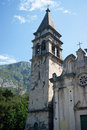 Campanile church of st matthew of dobrota montenegro Stock Photo