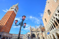 Campanile and Doge's Palace in Venice, Italy. Stock Images