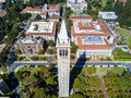 Campanile or Sather Tower of Berkely University Royalty Free Stock Photo