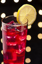 Campari cocktail in disco setting red Royalty Free Stock Photography