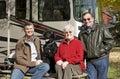 Campeggio degli anziani Immagini Stock Libere da Diritti