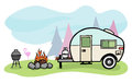 Camper illustration Royalty Free Stock Photo