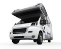 Camper van on white background d render Royalty Free Stock Photos
