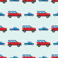 Campers vacation travel car summer seamless pattern trailer house vector illustration flat transport
