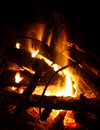 Campfire background Royalty Free Stock Photo