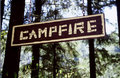 Campfire Sign Stock Photography