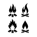 Campfire vector icon Royalty Free Stock Photo