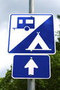 Campground direction sign Royalty Free Stock Photography