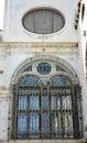 Campiello de la Scuola, architectural windows, Venice city, Italy Royalty Free Stock Photo