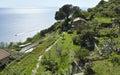 Campiglia areial view of a little village near la spezia Stock Photo
