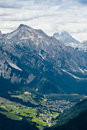 Campiler mountain south tyrol landscape on mount Stock Photo