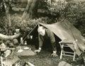 Camping anxiety Royalty Free Stock Photo