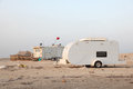 Camping at Arabian Gulf coast Royalty Free Stock Photos