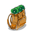Camping bag on white background Royalty Free Stock Photography